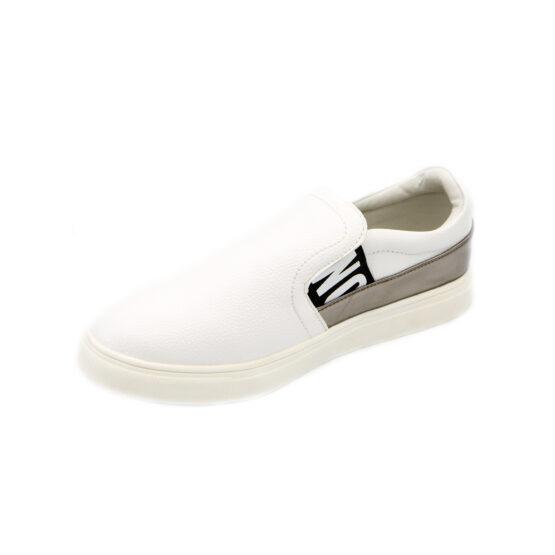 Pantofi albi sport pentru baieti