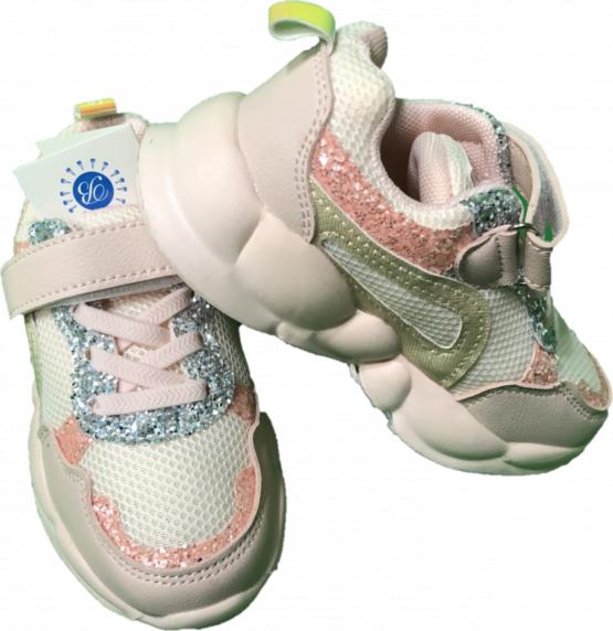Adidasi roz copii cu sclipici