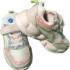 Adidasi roz cu sclipici