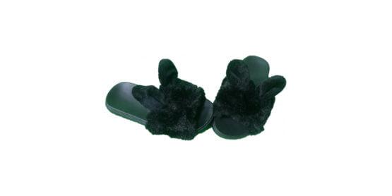 Papuci negri cu blanita