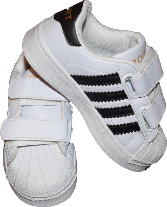 Adidasi sport albi cu dungi negre