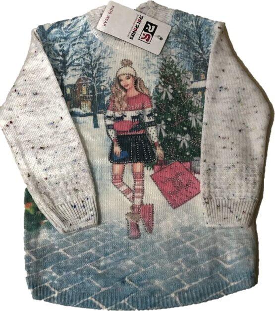 Bluza fashion fetite cu maneca lunca