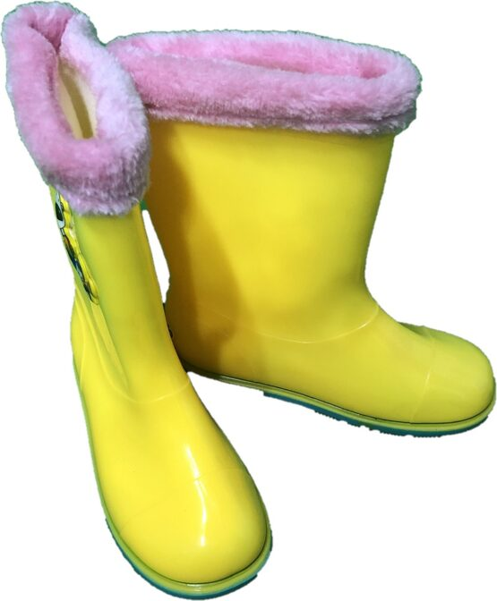cizme cauciuc galbene copii