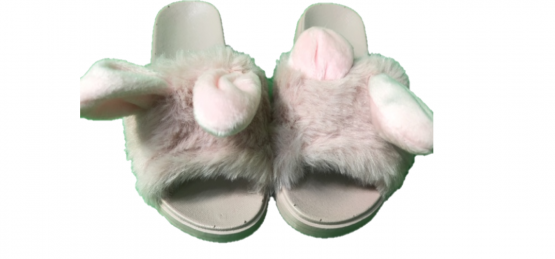 Papuci roz cu blanita
