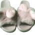 papuci cu blanita roz