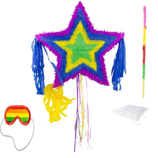 Set complet Pinata stea + bat + ochelari + confetti