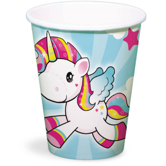 Pahar de unica folosita , 250 ml , model Unicorn